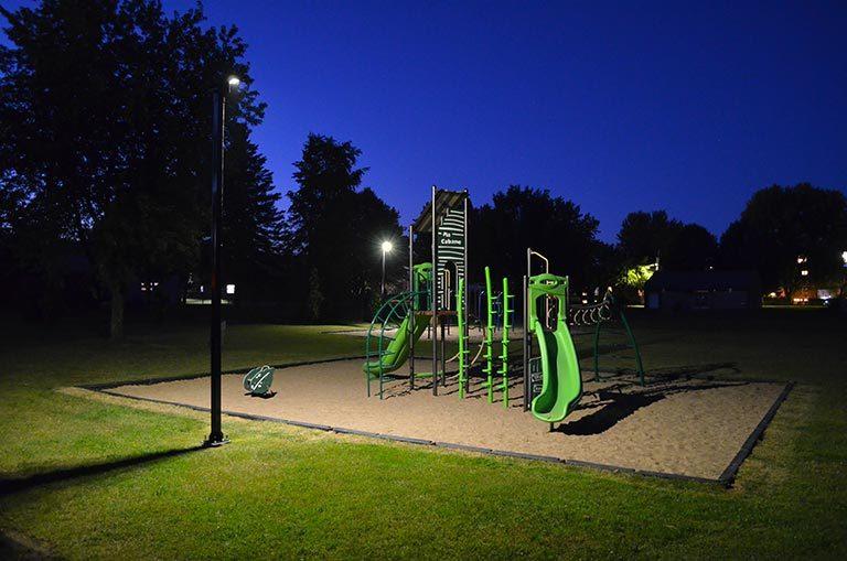 Éclairage des modules pour enfants parcs publics