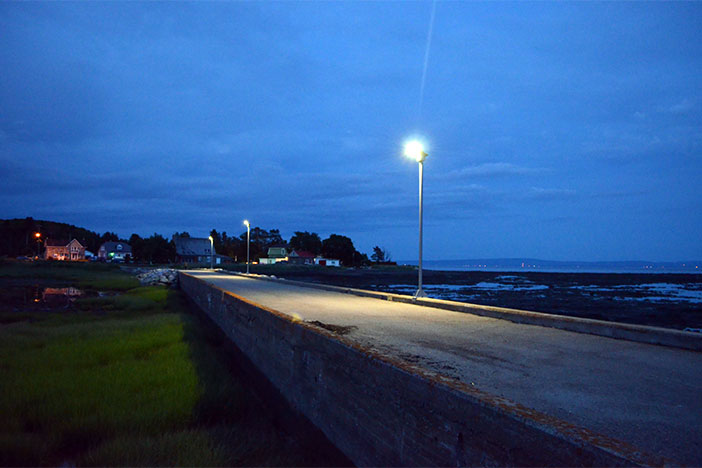 Lampadaire solaire à L'Isle-aux-Coudres