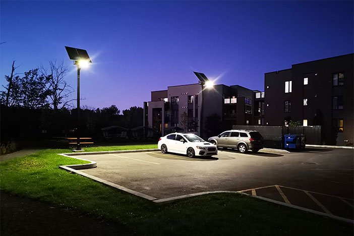 parking lot solar lighting
